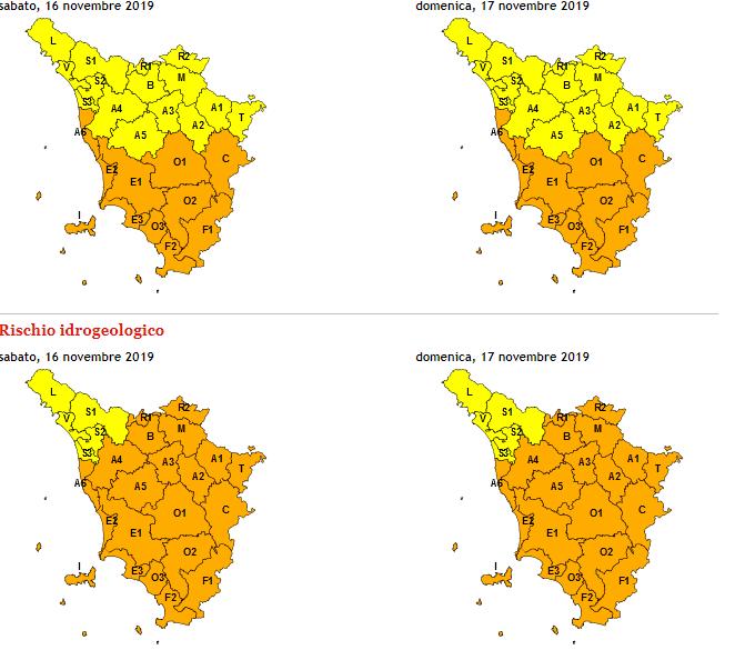L'allerta meteo sul sito della regione Toscana-3