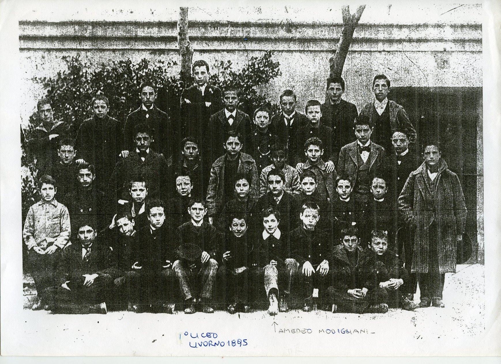 Amedeo Modigliani con i compagni di classe