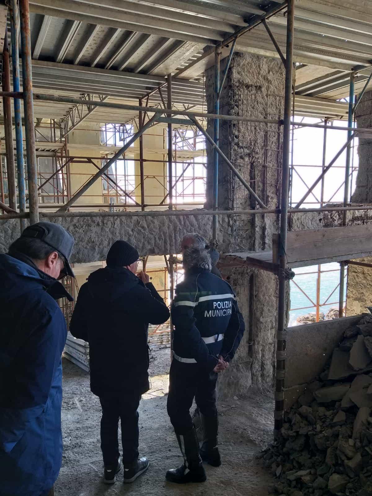 Sopralluogo dei lavori al ponte di Calafuria