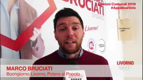 Elezioni 2019, l'appello al voto di Marco Bruciati