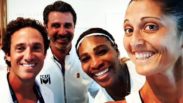 Tommaso Iozzo, Patrick Mouratoglou, Serena Williams e Giulia Gatto Monticone-2