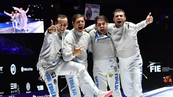 ITALIA Sciabola maschile festeggia BUDAPEST-2