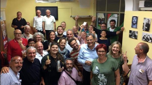 Adelio Antolini festeggia la vittoria-2