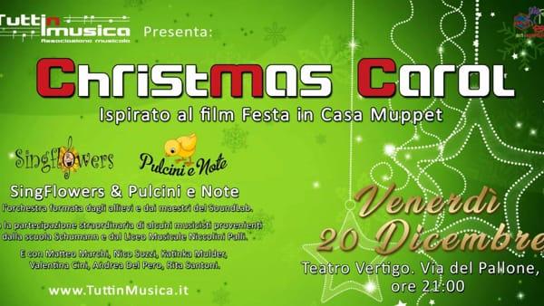 """Musica, al Teatro Vertigo in scena """"Christmas Carol"""" con l'associazione Tutti in musica"""