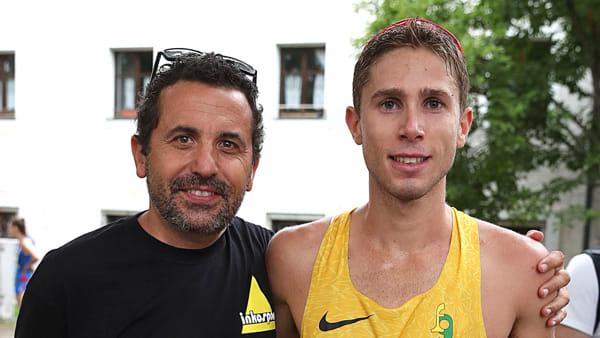 Picchiottino con il suo allenatore Massimo Passoni (Foto Fidal/Colombo)-2