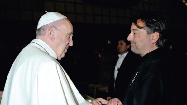 Padre Maurizio insieme a Papa Francesco