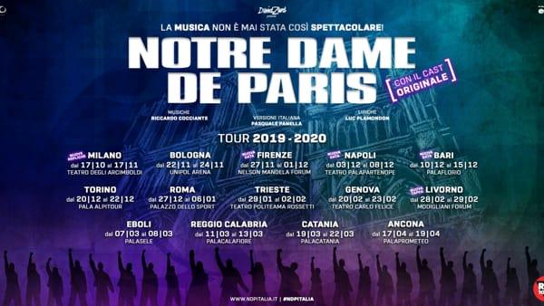 Notre Dame de Paris, arriva a Livorno il musical dei record con il cast originale