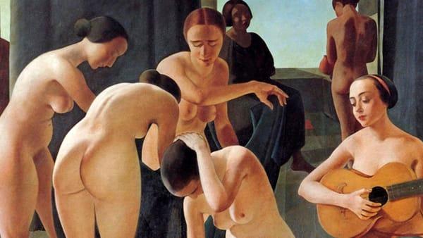 """Pinacoteca Servolini, lezione sull'opera di Arnaldo Carpanetti """"Donna con chitarra"""""""