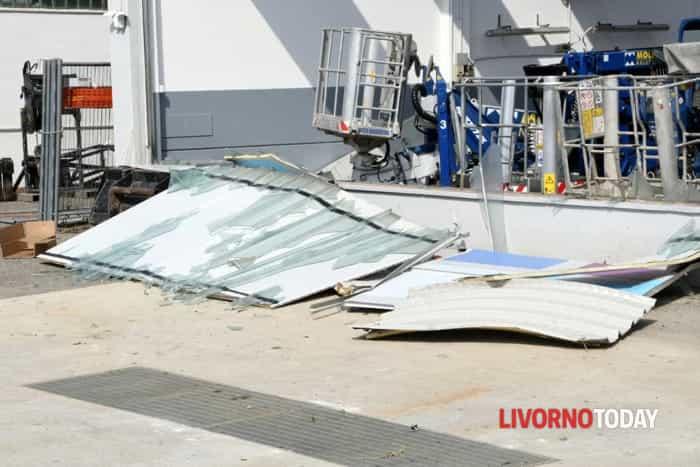 Tromba d'aria a Stagno: i danni